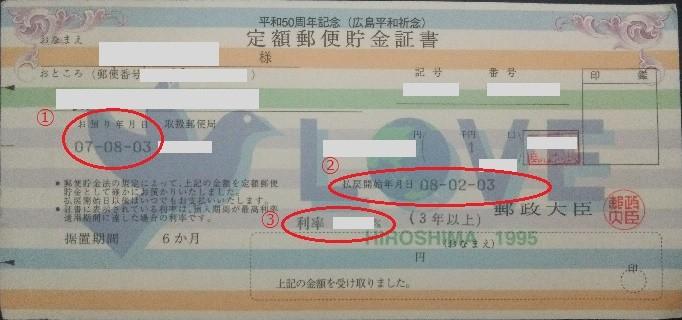 郵便 局 定額 貯金 金利